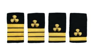 Epaulette Shoulder Board Merchant Navy Soft Slip on Propeller Engineer